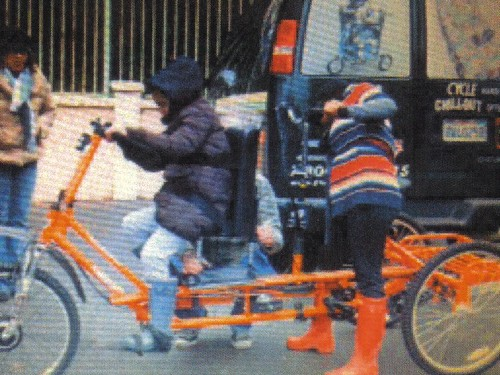 Special Needs Orange Bicyle Stolen West Los Angeles
