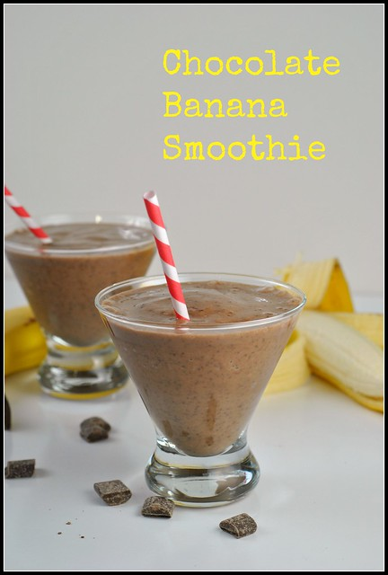 Chocolate Banana Smoothie 1