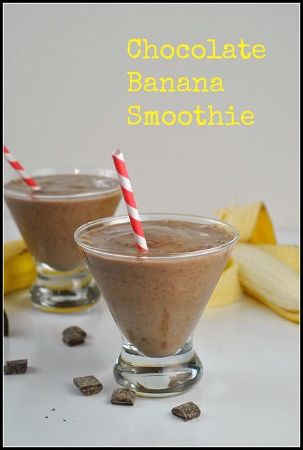 Chocolate Banana Smoothie 1