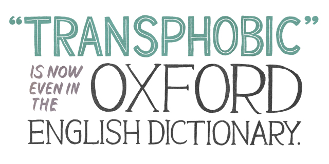 transphobia is now even in the OED