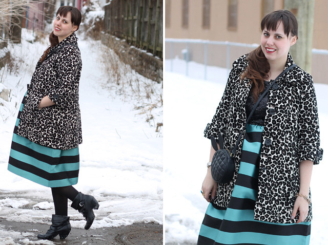 Sparkle and stripes outfit: Anthropologie