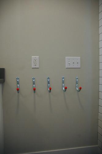 main bath details, towel hooks