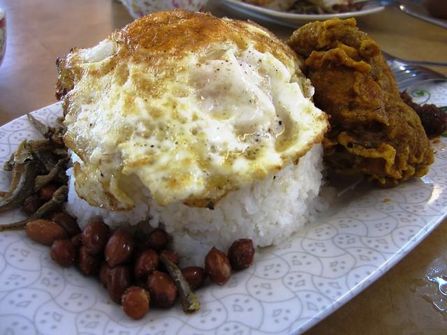 Sg Merah Food Court nasi lemak special