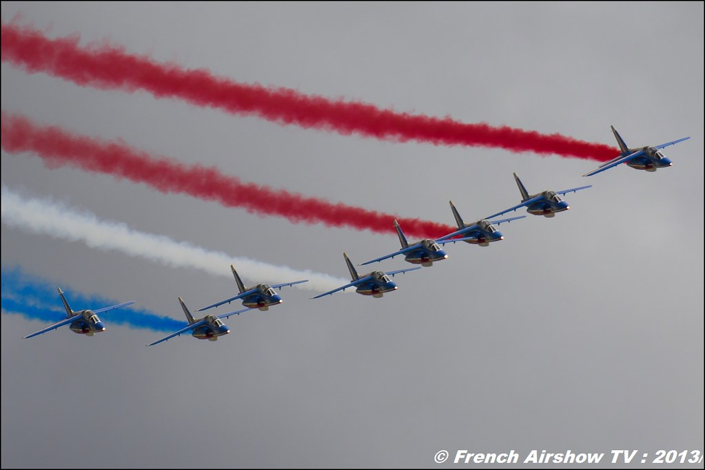 Patrouille de France ,Salon du Bourget 2013,Paris Airshow 2013