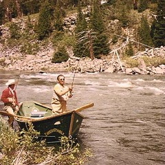 Irresistible fly fishing on the Henry's Fork. #throwbackthursday #henrysfork #vintage #flyfishing #river #trout #idaho