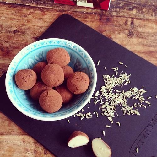 Witte Chocoladetruffels met...venkel!