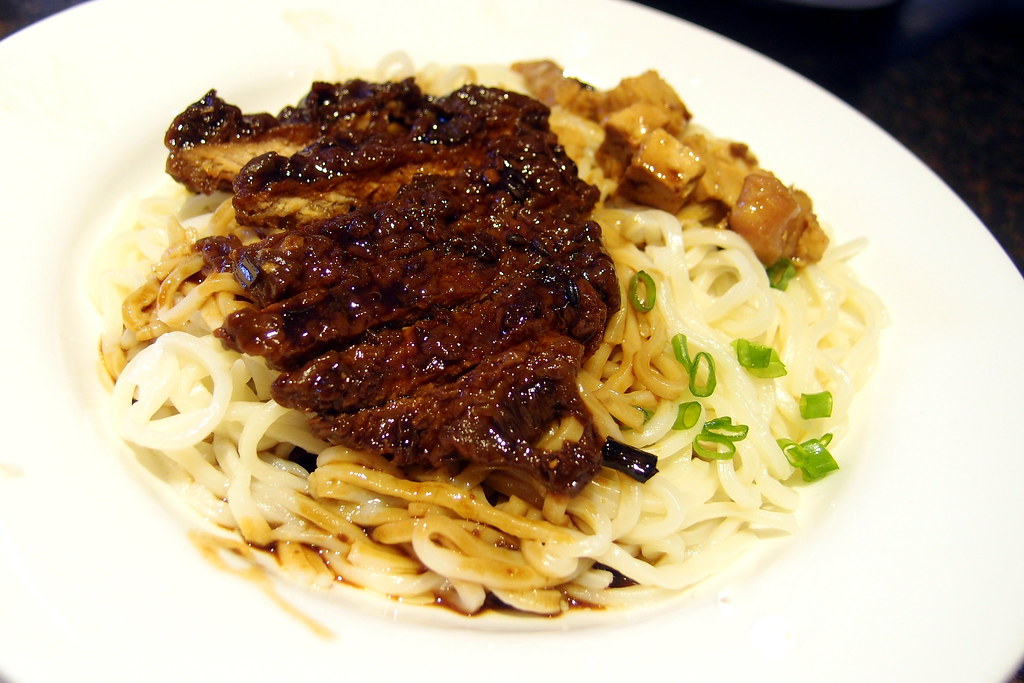 Shanghai Ren Jia: chicken chop with sallot noodle