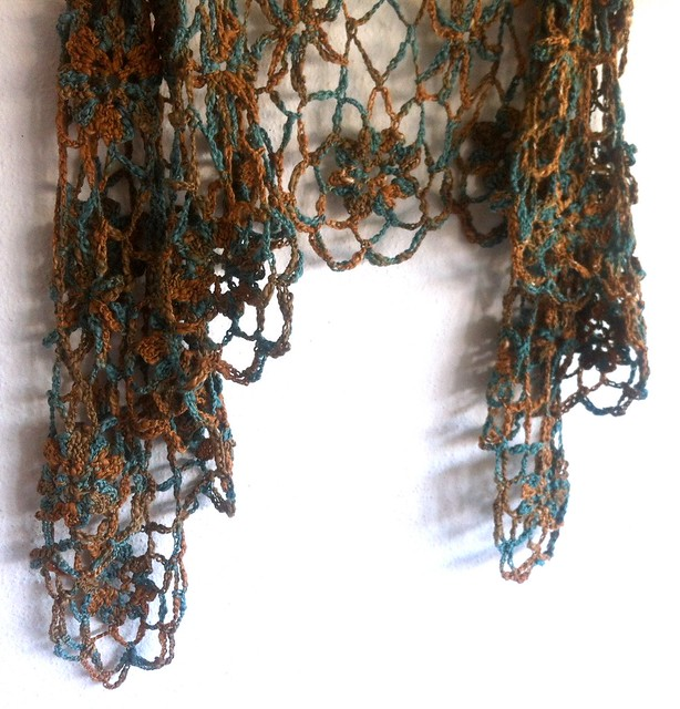 hand dyed cotton shawl.