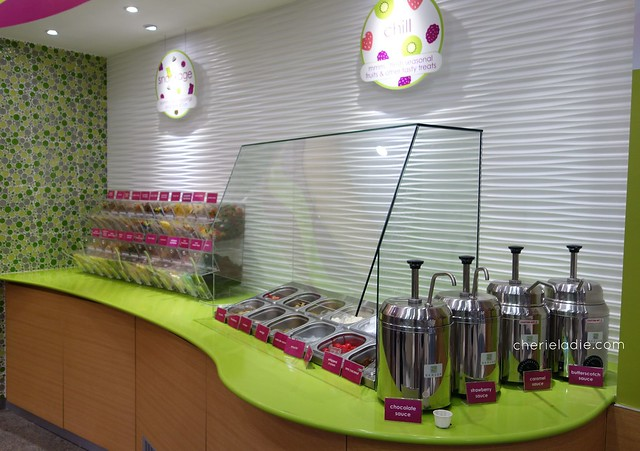 Menchie's Toppings station - 44 flavours all together!