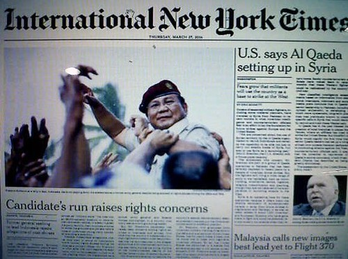 Koran INYT Ulas Masa Lalu Prabowo