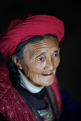 Tibetan old woman, Shangri-La