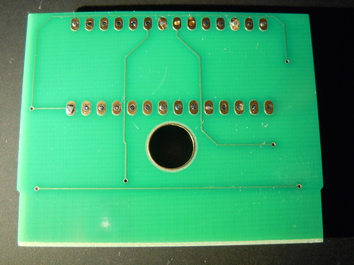 Furrtek's Airaki: back of the cartridge PCB