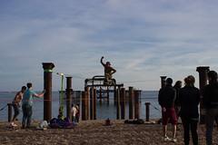 Circus artist in Brighton