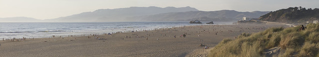 May 14, 2014 @ Ocean Beach --- Record breaking temperature in San Francisco: 88 degrees (87 degrees on this day in 1922).