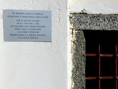 Tavola commemorativa sulla chiesetta di San Bello, Morbegno.