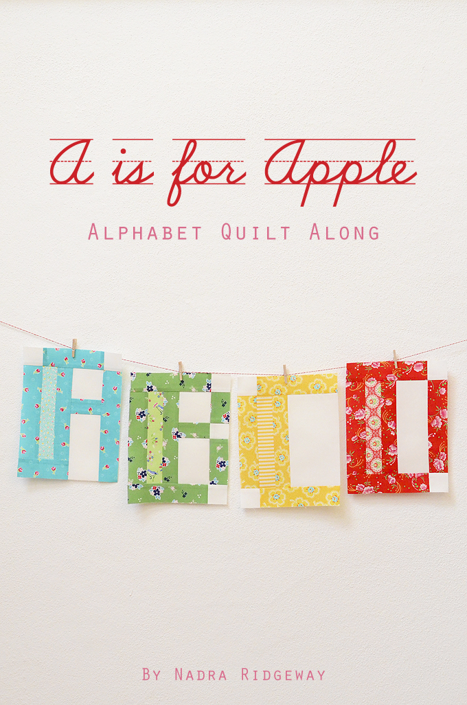 A is for Apple - Alphabet Quilt Along