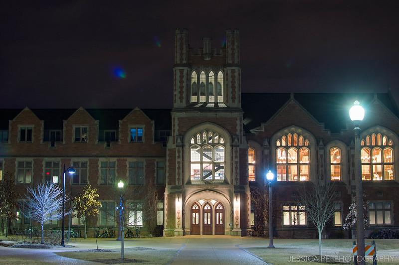 WUSTL Law School at Night