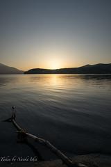 sunset at Lake Yamanakako