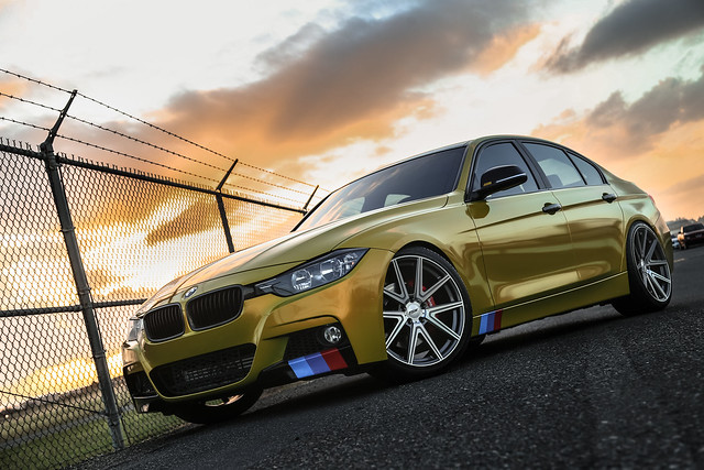 BMW F30 with TSW Rouge