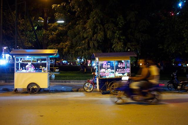 street food carts, Siem Reap, Cambodia