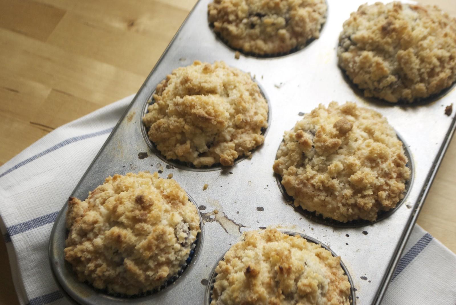 cherry crumble muffins