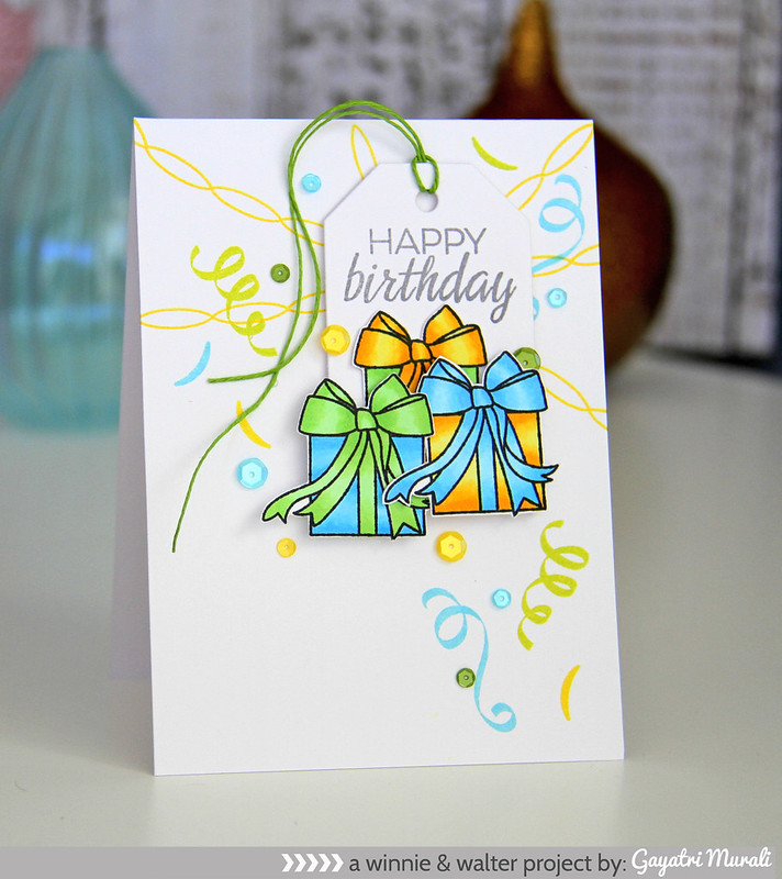 Birthday boxes card