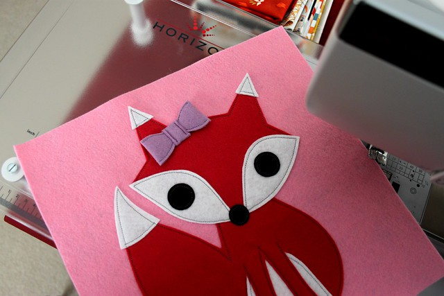 Red Fox // Purple Bow