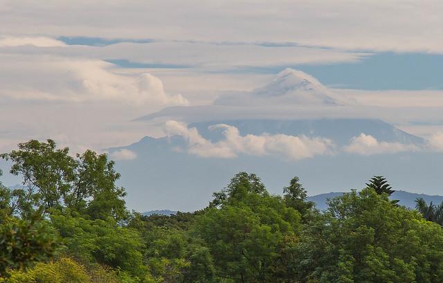 Popocatépetl seen from Cuernavaca