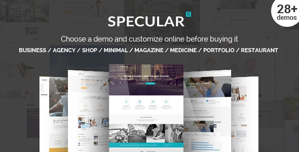 Specular v2.3.1 – Responsive Multi-Purpose Business Theme