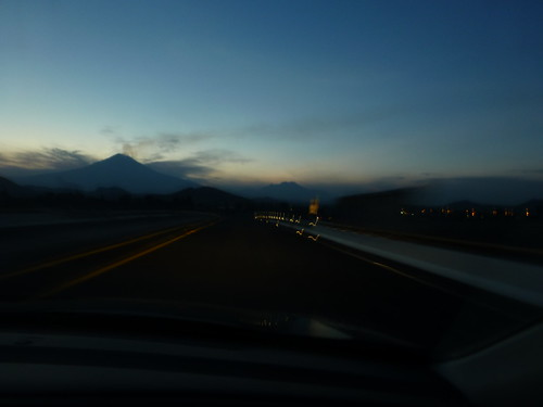 - Popocatepetl and Iztaccihuatl at sunset