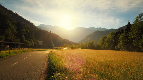 nature colors sunrise landscape spring colorful warm slovenia springcolors goodmorningnature