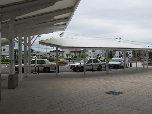 函館競馬場のタクシー乗り場