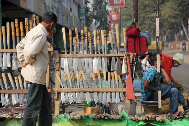 Nagaland knives being sold