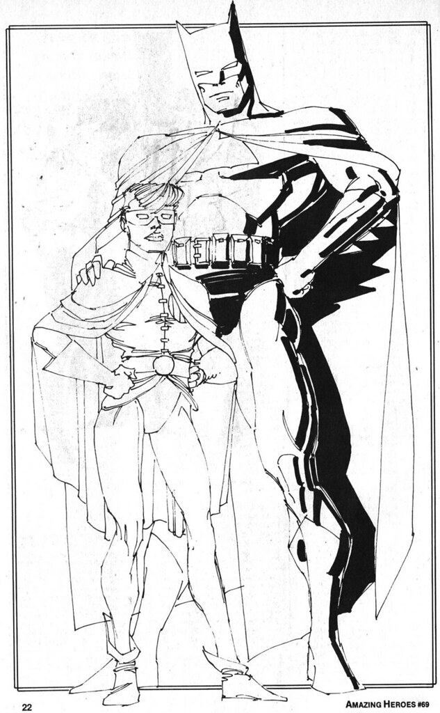 Amazing Heroes 69 Batman Robin Carrie sketch