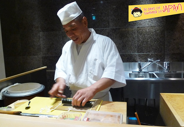 Sushi Chef YASUDA - sitting at the bar