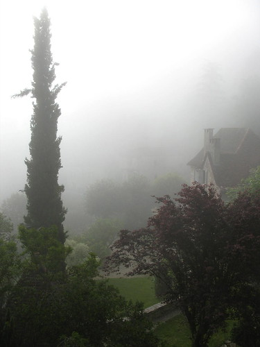 View from the balcony - misty morning