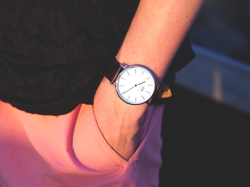daniel wellington men's bristol silver watch