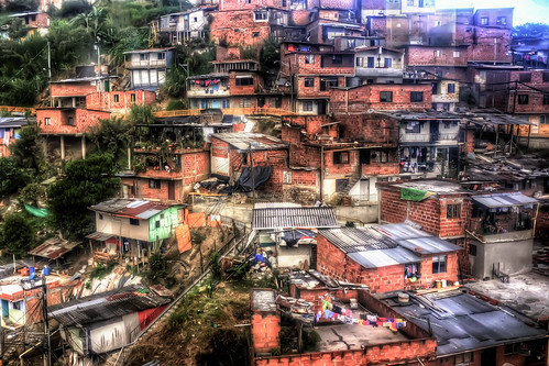 poverty street city urban buildings colombia cityscape medellin comuna metrocable 2013