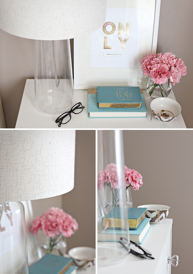 Nightstand Styling, EQ3 Bliss Table Lamp