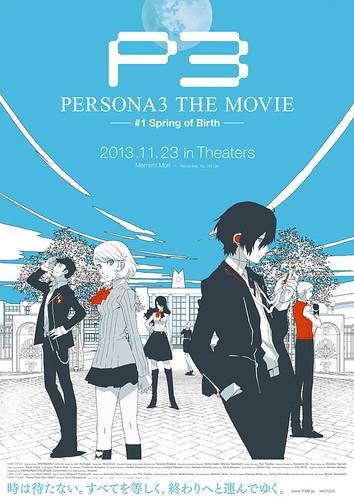 130723 – 女神異聞錄劇場版《PERSONA3 THE MOVIE #1 Spring of Birth》宣布11/23上映、聲優&新預告出爐!