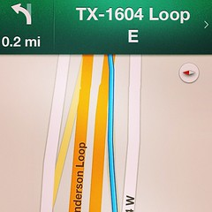 In Texas even the frontage road is BIGGER!  I passed three @Starbucks in 3 miles. Love San Antonio'