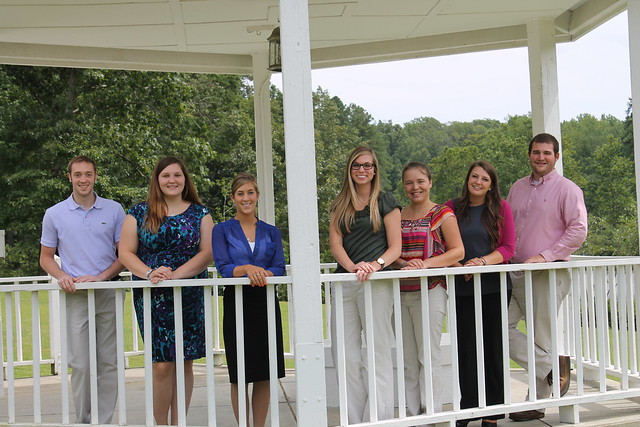 Summer 2013 marketing interns gathered at Bear Creek Lake to make their final presentations