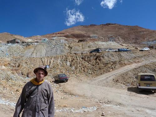 A la salida de las minas de Potosí (Bolivia)