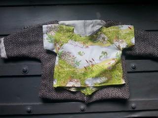 froggy baby kimono top
