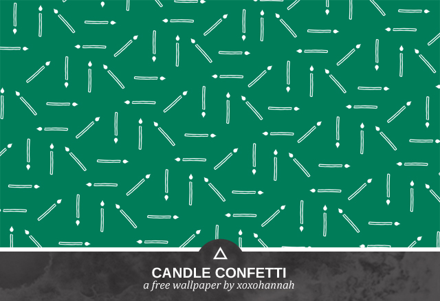 Candle Confetti Desktop Background Preview in Green