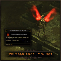 Diablo III for PS3: Crimson Angelic Wings (exclusive PlayStation item)