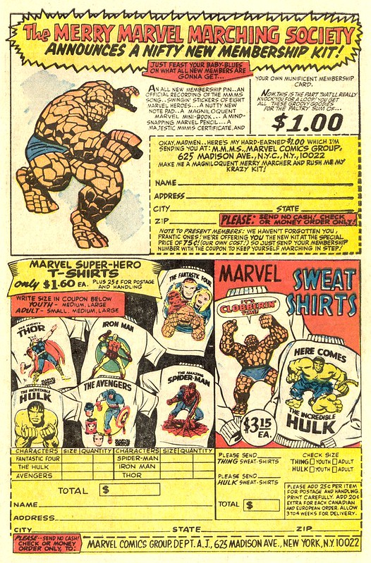 Fantastic Four 70 Marvel Merchandise ad