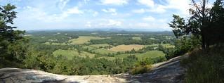 Glassy mountain view