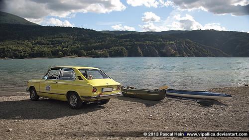 BMW 1802 touring, Lac de Serre-Ponçon, France