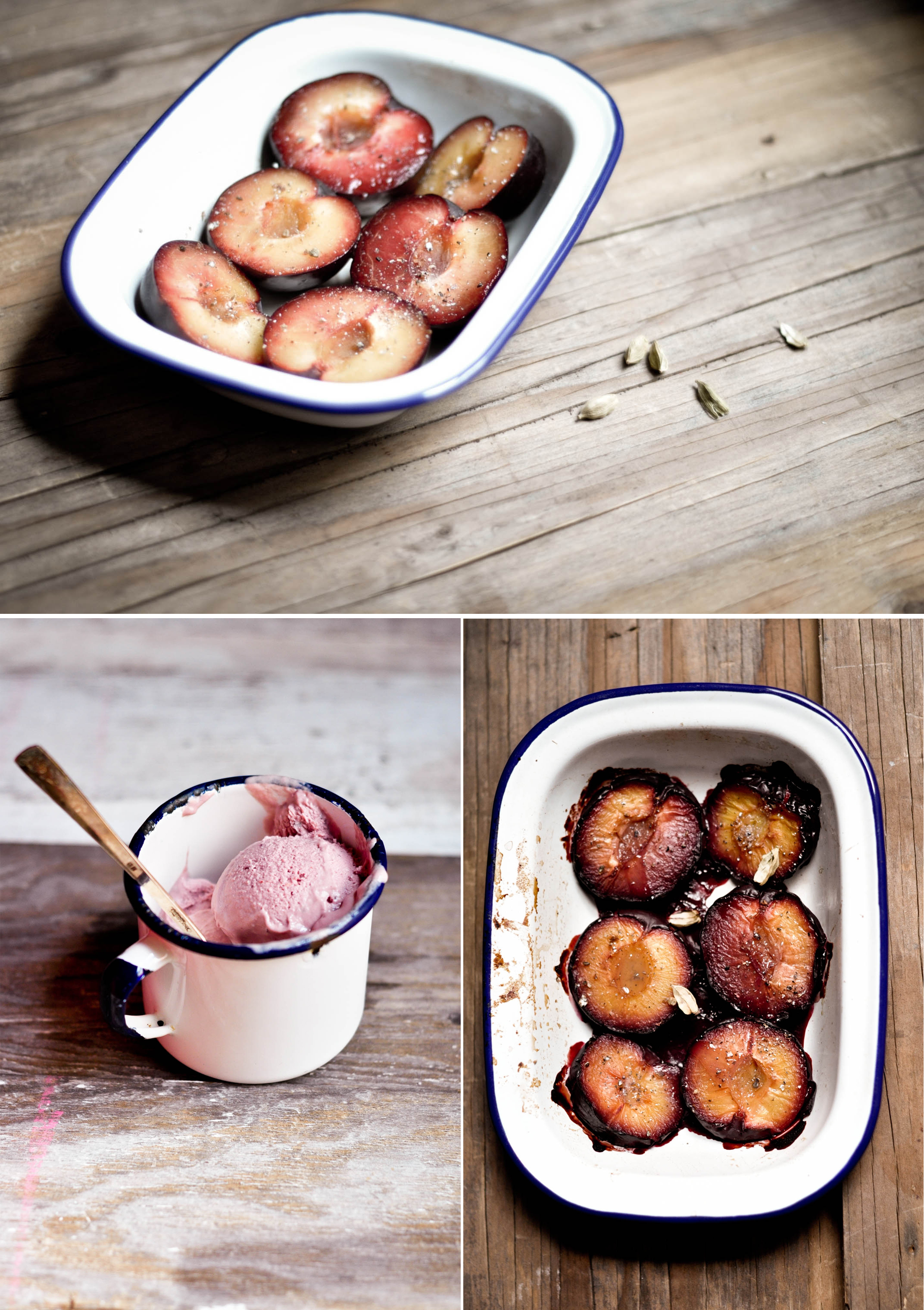 Plums Collage